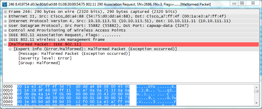 CAPWAP Packet Analysis using wireshark | mrn-cciew