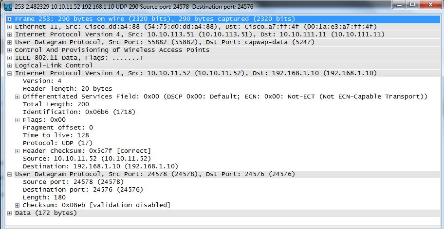 CAPWAP Packet Analysis using wireshark | mrn-cciew