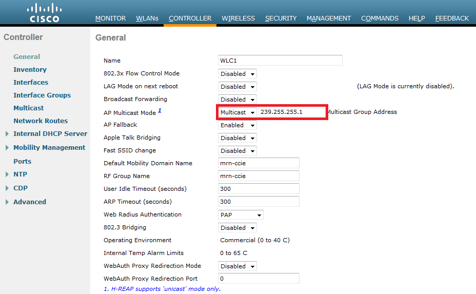 Configuring Multicast On Wlc Mrn Cciew