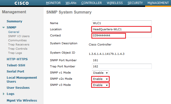 Configuring SNMP on WLC | mrn-cciew