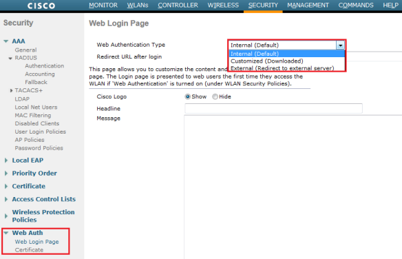 WLC – Web Authentication | mrn-cciew