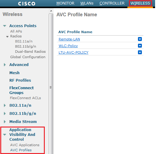 Configuring AVC on WLC 7 4 | mrn-cciew