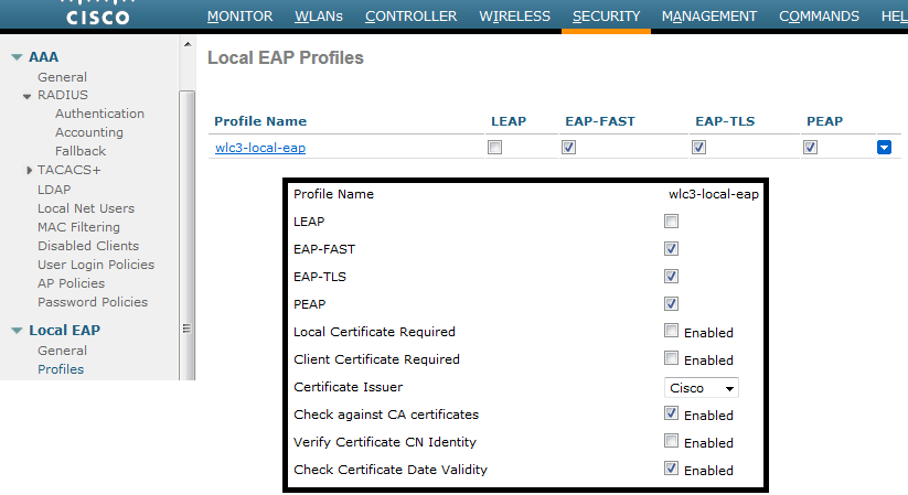 Configuring Local EAP on WLC | mrn-cciew