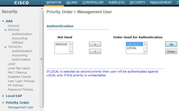 WLC Admin Access via TACACS | mrn-cciew