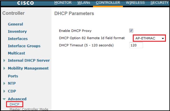 WLC – DHCP Option 82 Configuration Example | mrn-cciew
